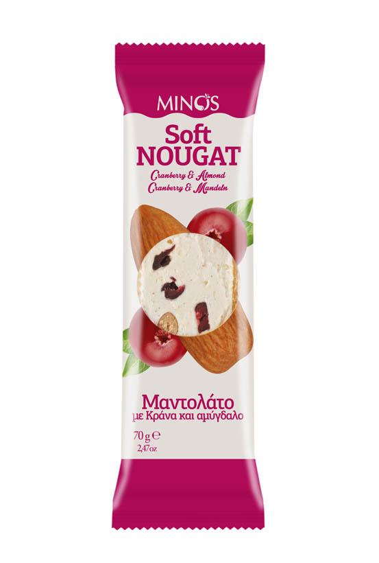 Cranberry &Almond - Soft Nougat Bar
